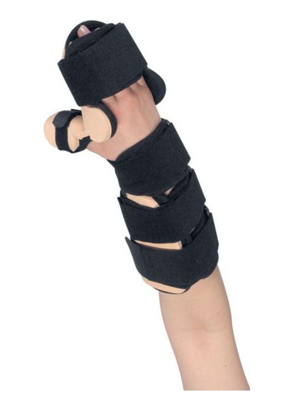 WHOSP - FT Splint for palm and forearm with thumb spica